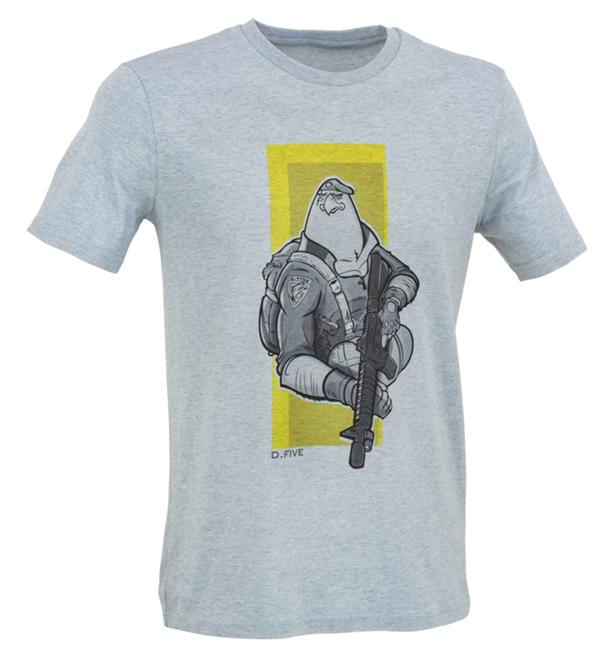 D.FIVE T-SHIRT WITH FRONT CHEST EAGLE PARATROOPER IMAGE