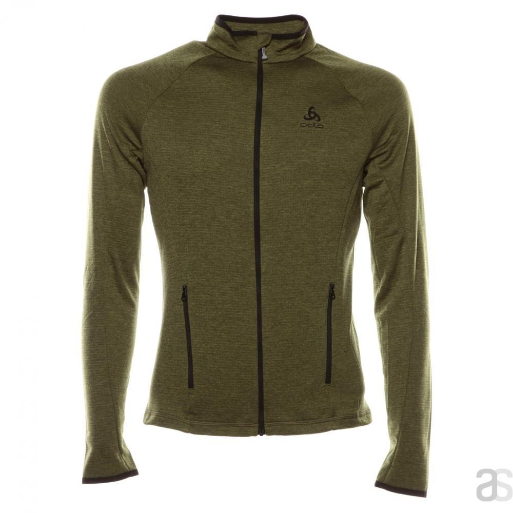 ODLO PROITA MIDLAYER FULL ZIP SMU - WINTER MOSS